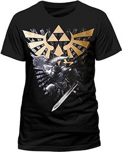 Czarny t-shirt nintendo