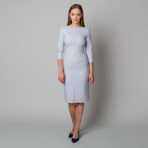 Sukienka Willsoor z tkaniny midi z okrągłym dekoltem