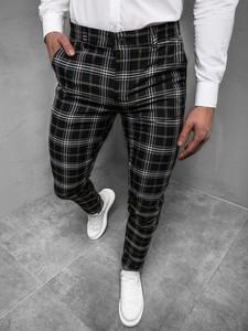 Spodnie producent niezdefiniowany w stylu casual z bawełny