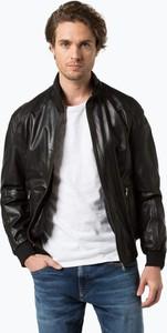 James - męska kurtka skórzana, czarny