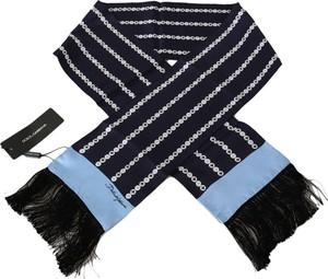Niebieski szal męski Dolce & Gabbana