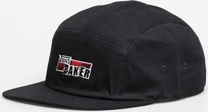 Czarna czapka Vans z nadrukiem