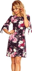 Sukienka Moda Dla Ciebie prosta z długim rękawem