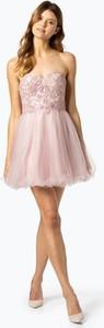 Różowa sukienka Laona z tiulu w stylu glamour bez rękawów