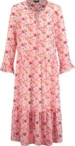 Sukienka Taifun z długim rękawem midi w stylu casual