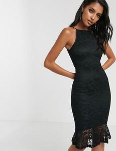 Czarna sukienka Ax Paris dopasowana midi