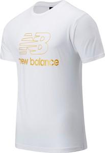 T-shirt New Balance z krótkim rękawem w młodzieżowym stylu