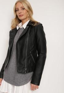 Czarna kurtka Renee w stylu casual krótka