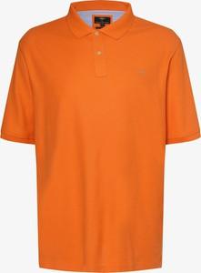 Pomarańczowa koszulka polo Fynch Hatton z krótkim rękawem