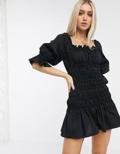 Sukienka Asos z bawełny baskinka