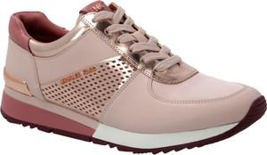 Buty sportowe Michael Kors z płaską podeszwą w sportowym stylu ze skóry