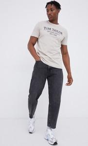 T-shirt Tom Tailor z dzianiny z nadrukiem w młodzieżowym stylu