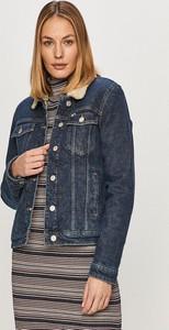 Kurtka Tommy Jeans krótka z bawełny w stylu casual