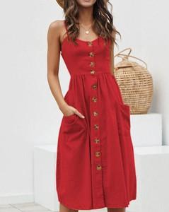 Czerwona sukienka Kendallme w stylu boho