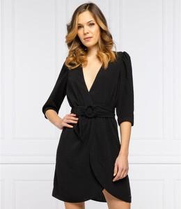 Czarna sukienka Pepe Jeans w stylu casual z dekoltem w kształcie litery v mini