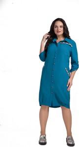 Niebieska sukienka Artmio