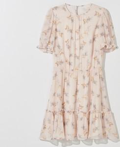 Sukienka Mohito z szyfonu z okrągłym dekoltem
