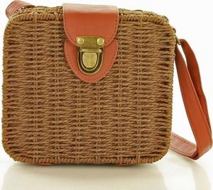 Brązowa torebka MAZZINI na ramię w wakacyjnym stylu mała