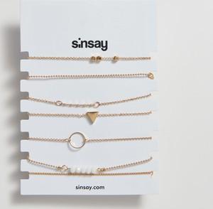 Sinsay - Minimalistyczne bransoletki - Beżowy