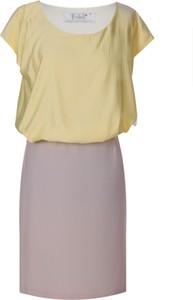 Sukienka Fokus ołówkowa z krótkim rękawem midi