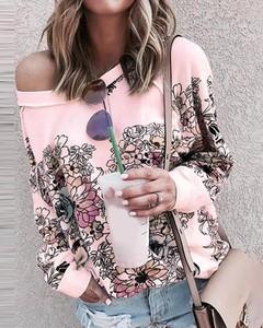 Bluzka Kendallme w stylu casual z dekoltem w kształcie litery v z długim rękawem
