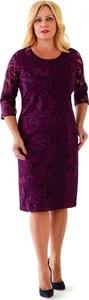 Sukienka Roxana - sukienki midi z długim rękawem ołówkowa