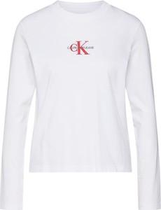 Bluzka Calvin Klein w stylu casual z długim rękawem z dżerseju