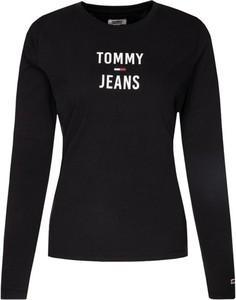 Bluzka Tommy Jeans z długim rękawem w stylu casual