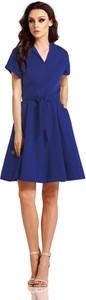 Niebieska sukienka Lemoniade midi z bawełny