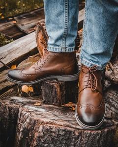 Brązowe buty zimowe Gino Vertucci
