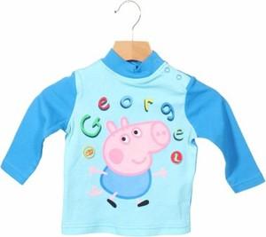 Niebieska bluzka dziecięca Peppa Pig z długim rękawem