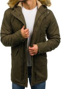Czarna kurtka denley w street stylu z poliestru