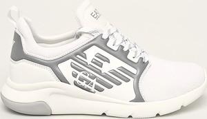 Buty sportowe Emporio Armani ze skóry ekologicznej sznurowane