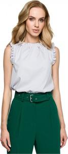 Bluzka Style bez rękawów z okrągłym dekoltem