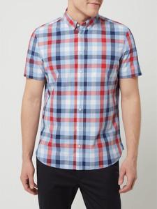 Koszula Montego z kołnierzykiem button down z krótkim rękawem z bawełny