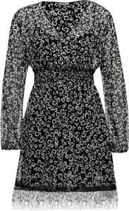 Sukienka Liu Jo White z długim rękawem