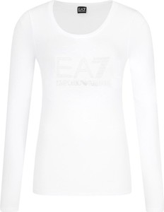 Bluzka EA7 Emporio Armani w stylu casual z okrągłym dekoltem