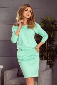 172b5cd3d2 Sukienka NUMOCO z okrągłym dekoltem w stylu casual z długim rękawem
