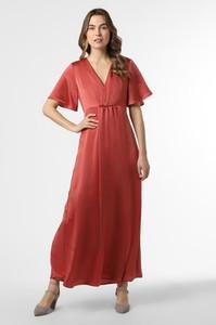 Czerwona sukienka Vila z krótkim rękawem prosta