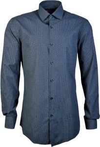 Niebieska koszula Hugo Boss z bawełny