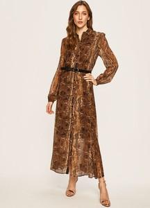 Sukienka Liu-Jo maxi z tkaniny z dekoltem w kształcie litery v