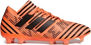 Pomarańczowe buty sportowe Adidas w sportowym stylu sznurowane