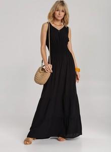 Czarna sukienka Renee bez rękawów maxi