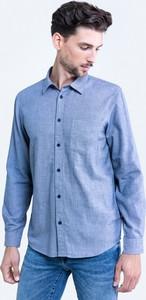 Niebieska koszula Big Star z klasycznym kołnierzykiem w stylu casual
