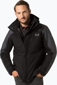Czarna kurtka Jack Wolfskin w stylu casual
