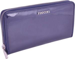 3fb66e20fda01 Produkuje ekskluzywną galanterię skórzaną z najlepszych włoskich skór.  Niebieski portfel PUCCINI ze skóry w stylu glamour