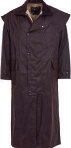 Granatowy płaszcz męski Barbour ze sztruksu
