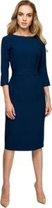 Sukienka Style z długim rękawem midi z tkaniny