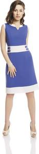 Sukienka Fokus midi dopasowana bez rękawów