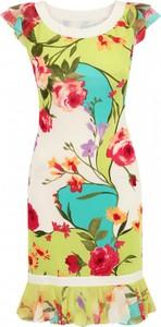 Sukienka L'AF z krótkim rękawem dopasowana